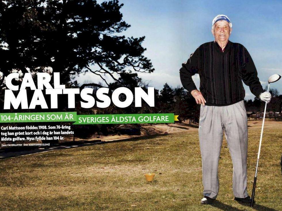 Sveriges äldsta golfare har fyllt 110 år