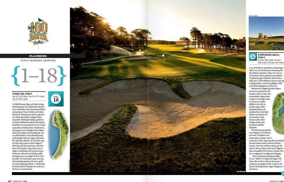 Sveriges 100 bästa golfhål